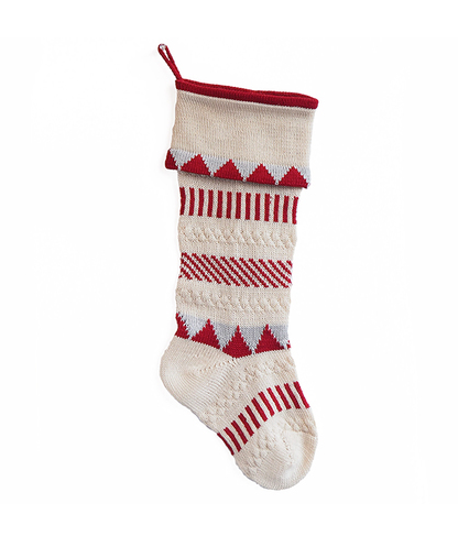 Handmade Multi Stripe Christmas Stocking- Fair Trade- Supports Artisan Women in Armenia - Give Back Goods