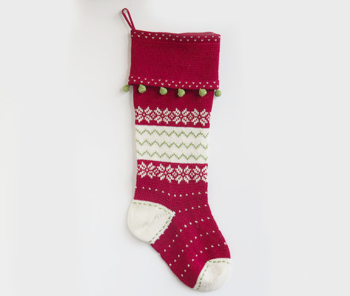 Handmade Nordic Christmas Cuff Stocking- Fair Trade- Supports Artisan Women in Armenia - Give Back Goods