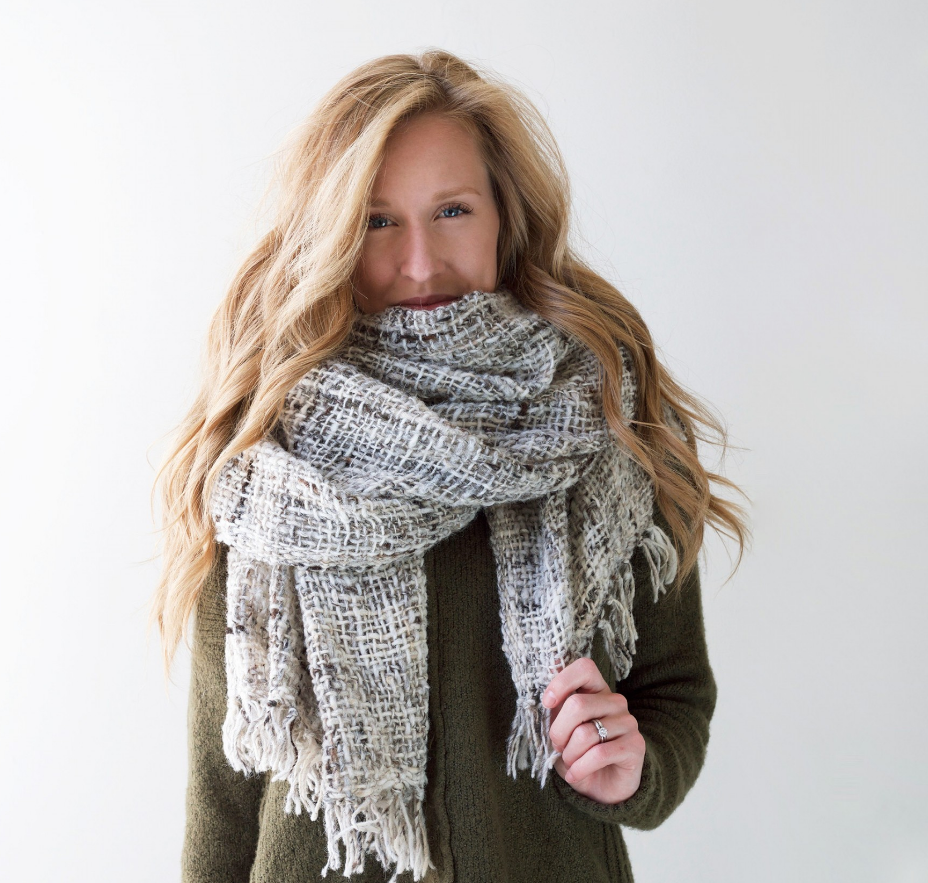 Open-Weave Kenya Wool Shawl / Throw-Heather Grey- Eco-Friendly, Fair Trade - Give Back Goods