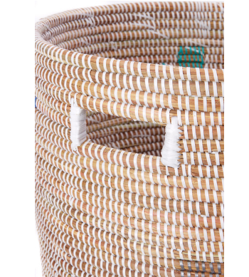 Handwoven Pixel Hamper Laundry Storage Basket (more colors), Fair Trade - Give Back Goods
