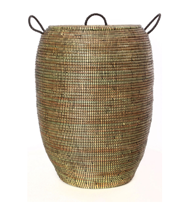 Tall Bongo Hamper Laundry Storage Basket- Fair Trade-Eco-Friendly- Handmade - Give Back Goods