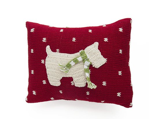 Handmade Mini Westie Christmas Dog Pillow - Fair Trade - Give Back Goods