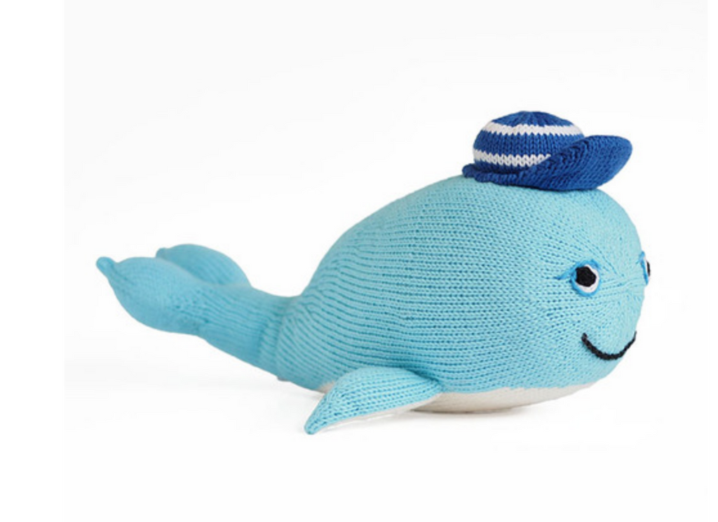 Hand Knit Wally The Whale  - Support Fair Trade for Artisans
