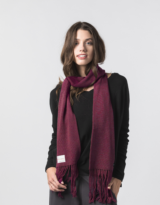 Handmade Alpaca & Merino wool Bishop Scarf, Fairtrade - Give Back Goods