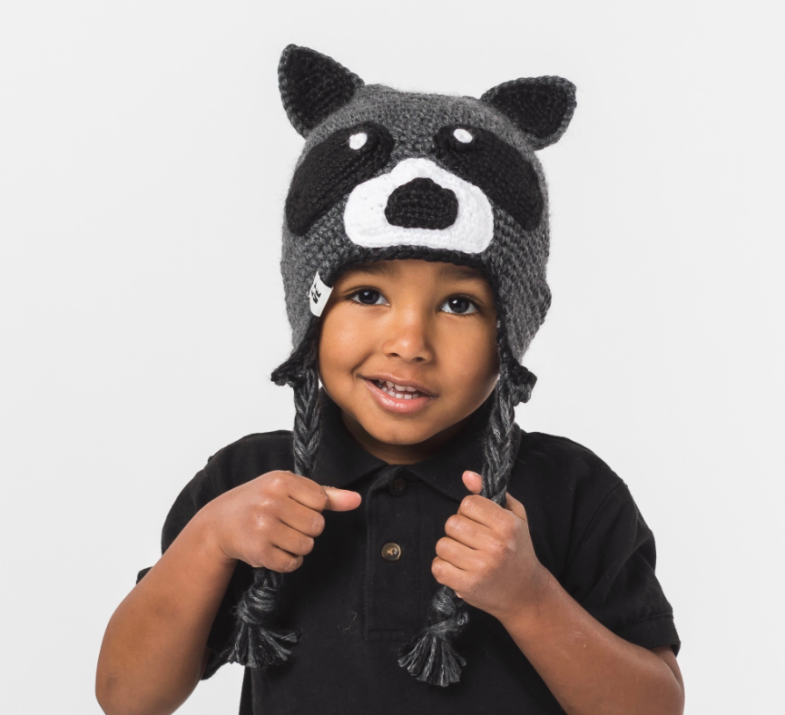 Handmade Child Racoon Hat - Help Break the Cycle of Poverty! - Give Back Goods