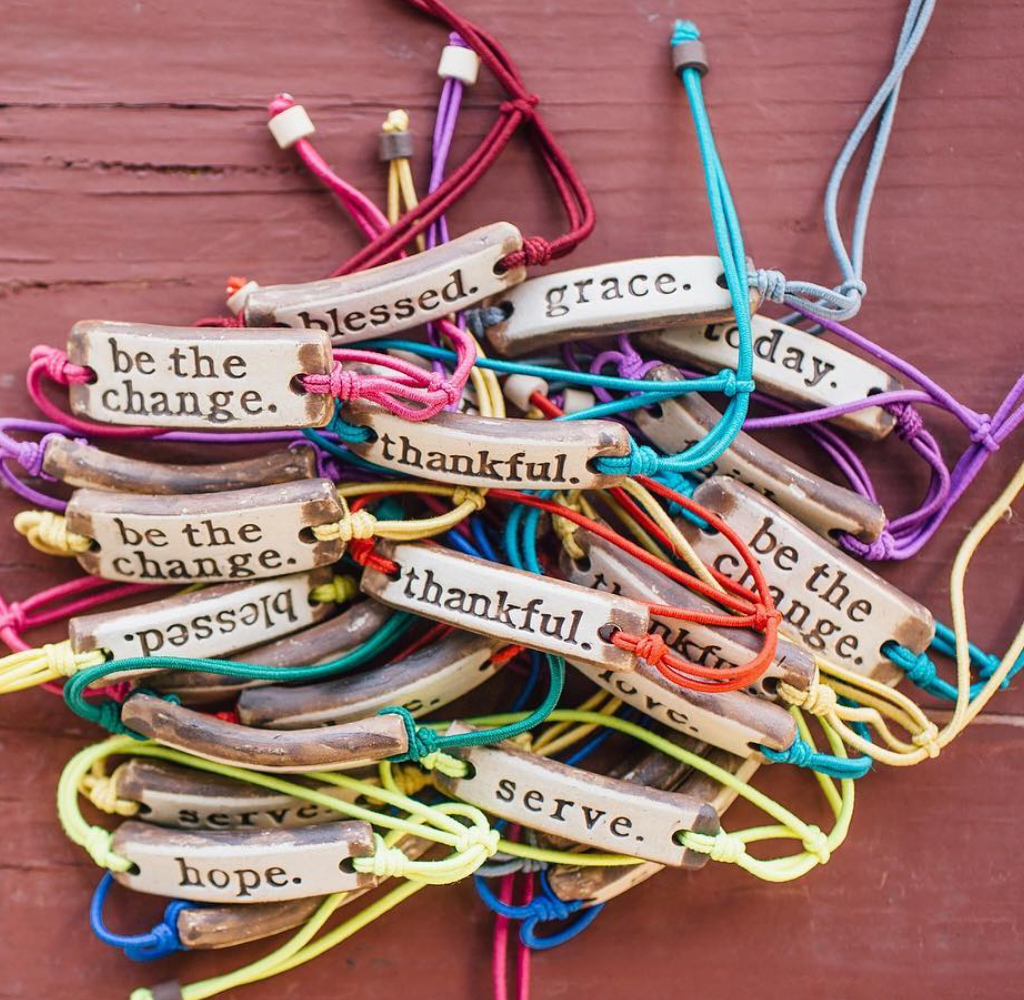 Inspirational Bracelets (pick your words)-USA Handmade- Provide 1 week of clean water to Africa - Give Back Goods