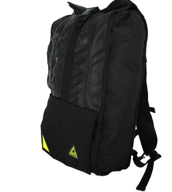 Upcycled Backpack- Made in the USA from Upcyled inner tubes & street sign scraps  - Save Landfill Space! - Give Back Goods