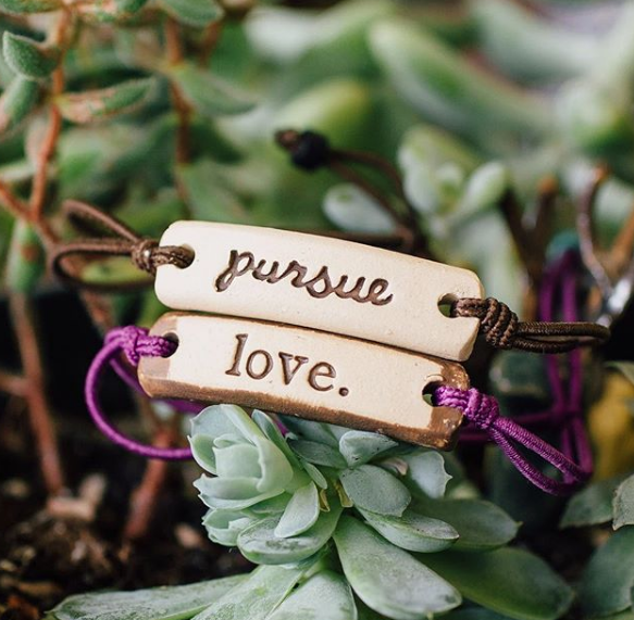 Inspirational Bracelets (pick your words)-USA Handmade- Provide 1 week of clean water to Africa