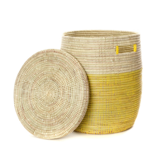 Yellow Hamper Laundry Storage Basket, Fair Trade, Eco-Friendly - Give Back Goods
