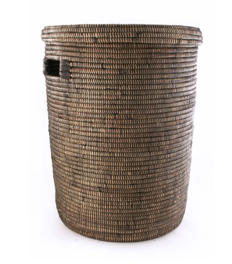 Black /Brown Hamper Laundry Storage Basket- Fair Trade, Eco-Friendly