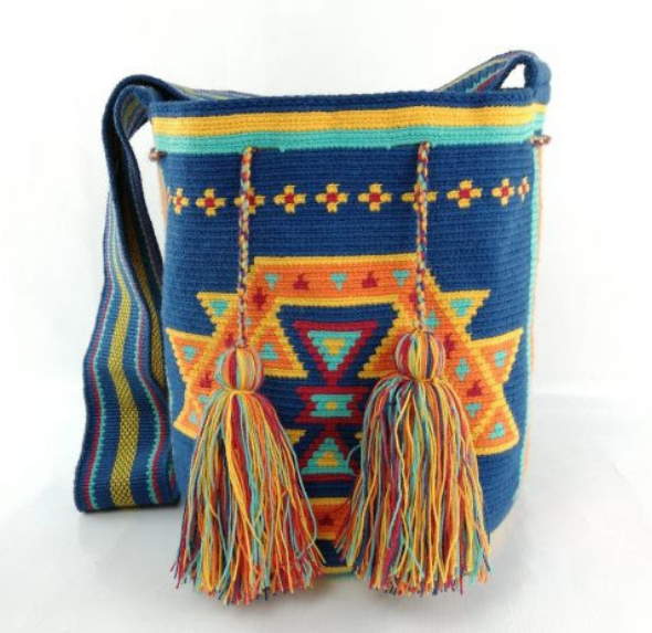Wayuu Bag, Large, one of a kind, Hand Crafted & Fair Trade - Give Back Goods