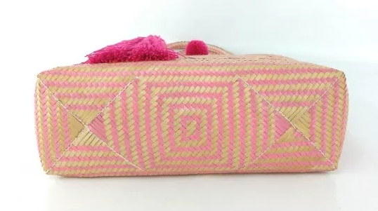 Pink Wayuu Basket Bag, one of a kind, Fair Trade & Hand Crafted - Give Back Goods