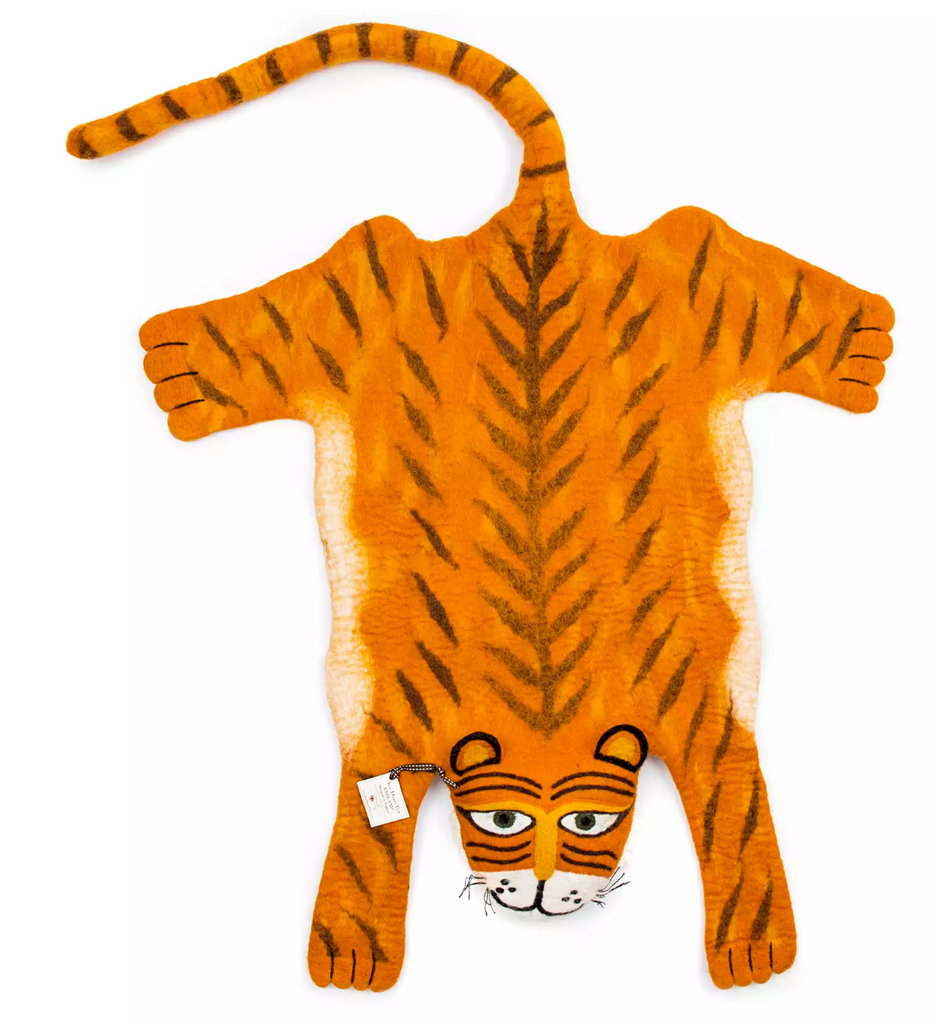 Raj the Tiger Kids Rug- Supports Fair trade Artisans in Nepal