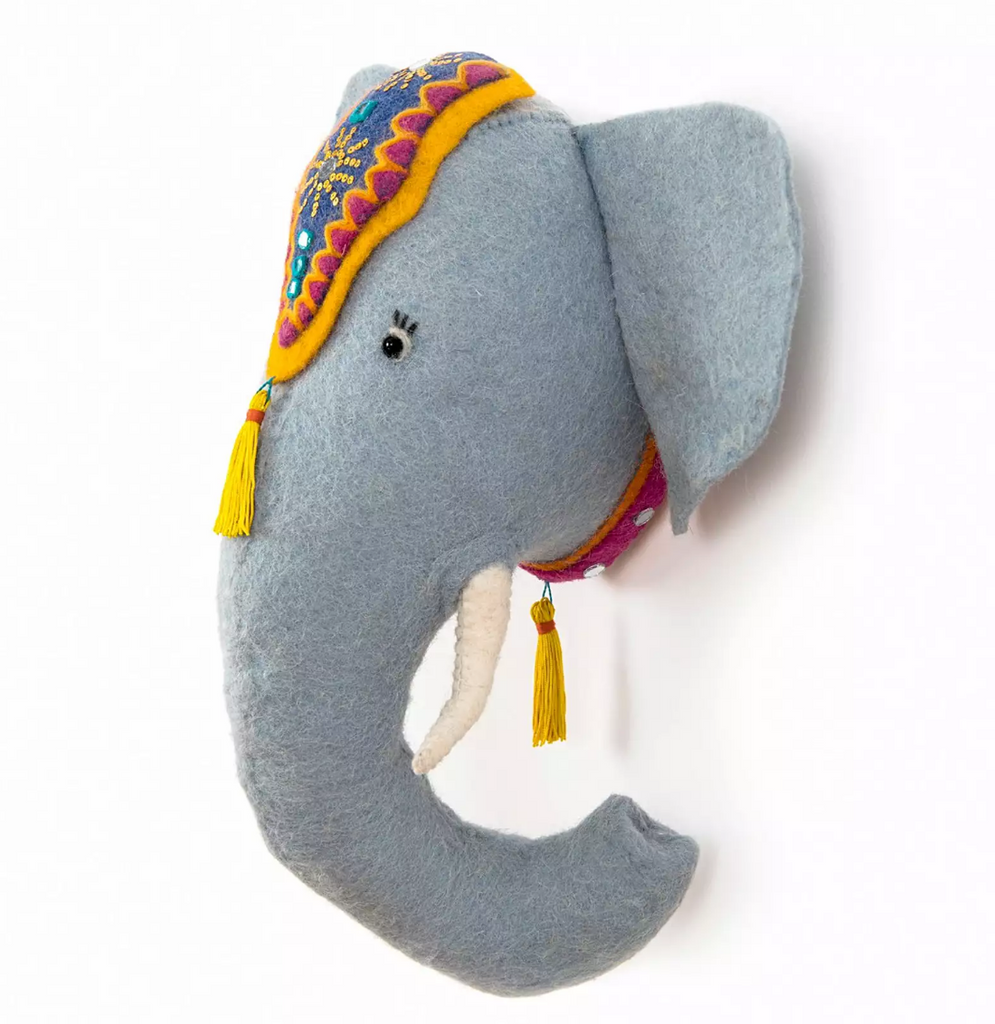 Elephant Kids Wall Decor,  Supports Fair trade Artisans in Nepal - Give Back Goods