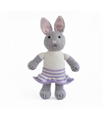 Hand Knit Bonny The Bunny Stuffed animal, Fair Trade - Give Back Goods