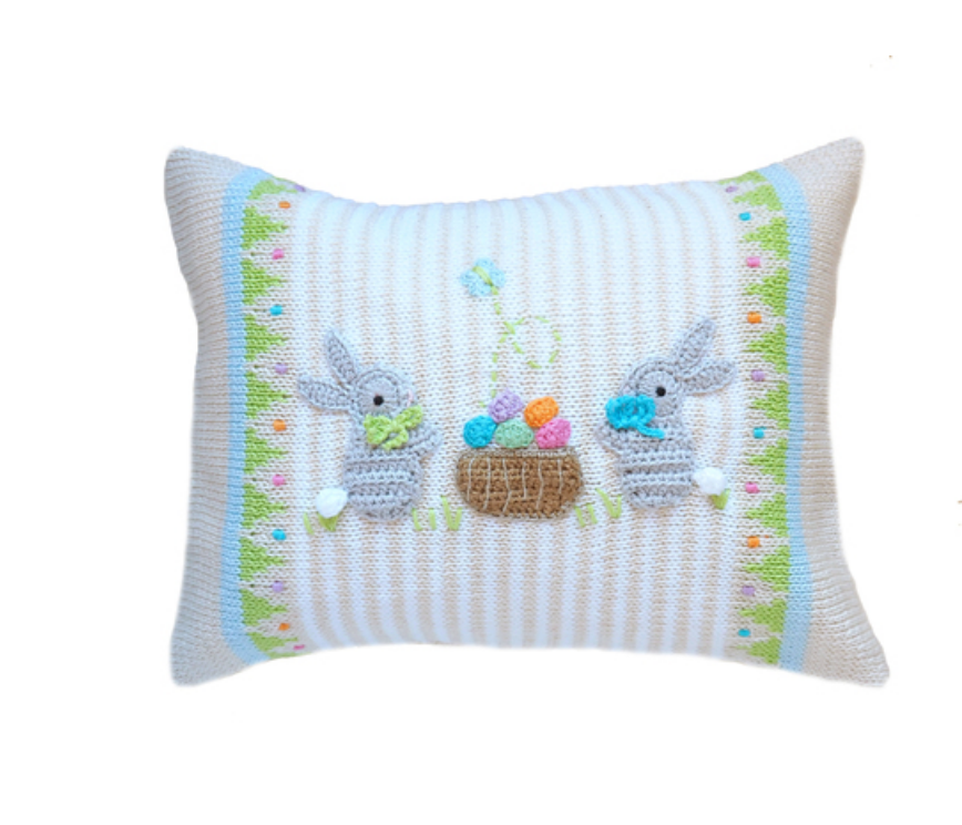 Easter 2  Bunny Pillow, Baby & Child  - Support Fair Trade for Artisans