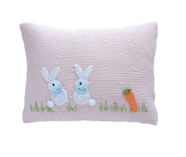 2 Bunny Baby Pillow (Pink or Blue), Fair Trade for Artisans - Give Back Goods