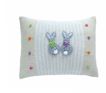 Baby Bunny Pillow with stripes & Dots, Fair Trade - Give Back Goods