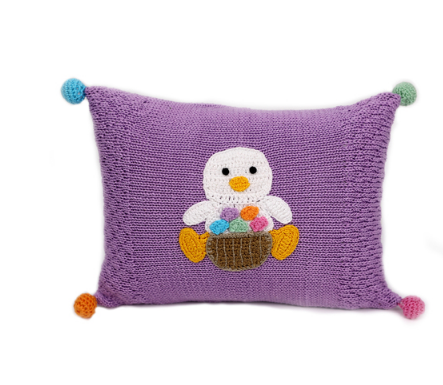 Handmade Baby Easter Duckling Pillow- Fair Trade