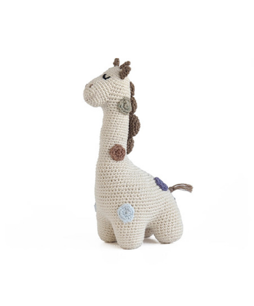 Organic Cotton Hand Crocheted Georgie Giraffe Stuffed Animal - Support Fair Trade for Artisans