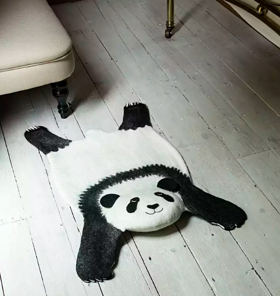 Panda Kids Rug,  Supports Fair trade Artisans in Nepal - Give Back Goods