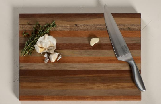 Exotic Hardwood Butcher Block Cutting Board - Prevents Deforestation & Conserves Forests! - Give Back Goods
