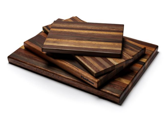 Large Exotic Hardwood Butcher Block Cutting Board - Prevents Deforestation & Conserves Forests! - Give Back Goods