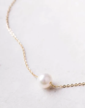 Pearl Necklace (gold or silver), Give freedom & create careers for exploited girls & women!