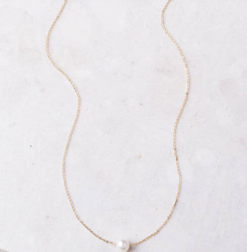 Pearl Necklace (gold or silver), Give freedom & create careers for exploited girls & women! - Give Back Goods