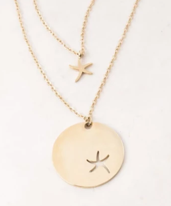 Starfish Necklace Set (gold or Silver)- Gives freedom to exploited women & girls!