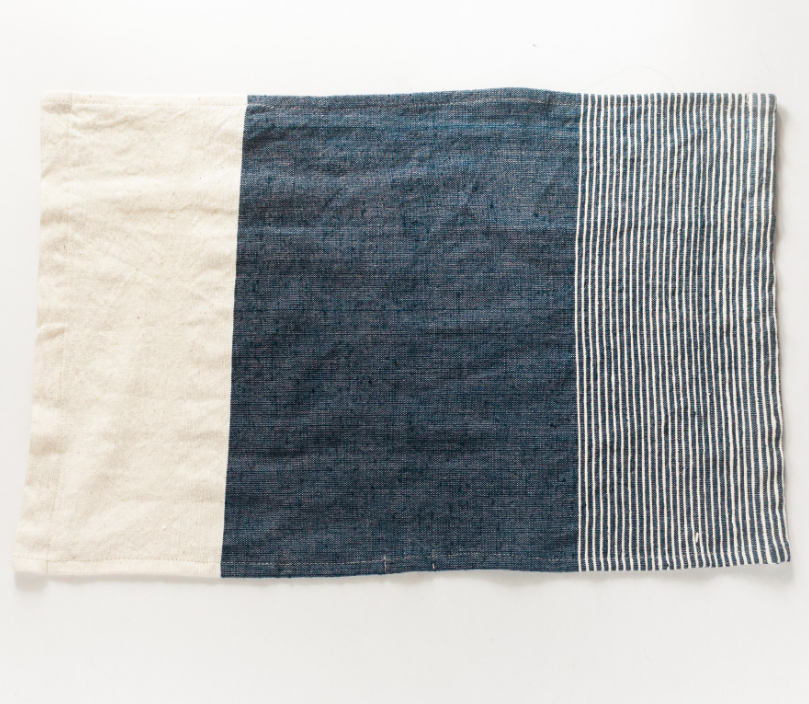 Set of 2 Hand Woven Ethiopian Cotton Tea Towels (choose color) Eco Friendly, Fair Trade - Give Back Goods