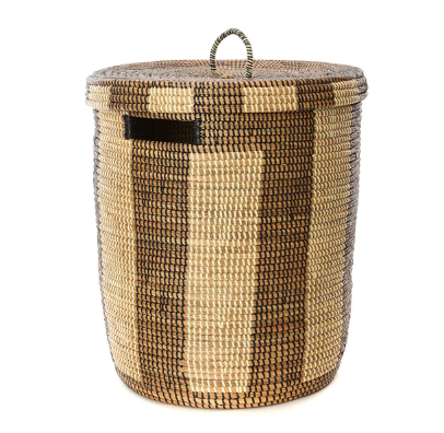 Striped Hamper/Laundry Basket, Fair Trade, Eco Friendly