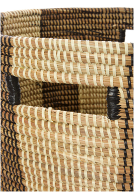 Striped Hamper/Laundry Basket, Fair Trade, Eco Friendly - Give Back Goods