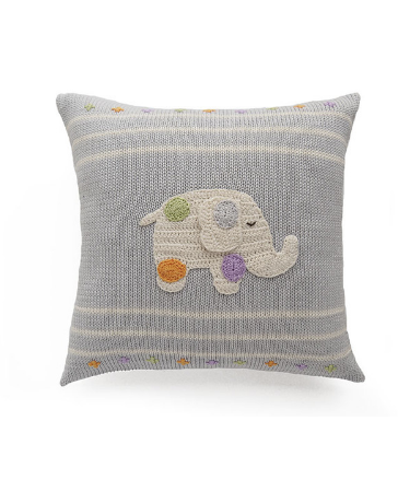 Elephant with Spots Baby Pillow, Handmade, Supports Fair Trade Artisans