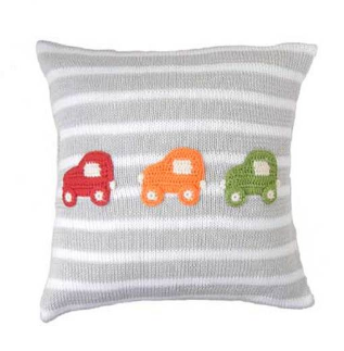 Colorful Cars Baby Toddler Pillow, Handmade, Fair Trade - Give Back Goods
