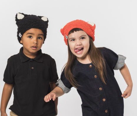Child and Baby Kitty Cat Hat, Fair trade, Break the Cycle of Poverty