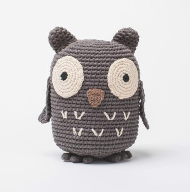 Hand Crocheted owl, Stuffed Animal, Fair Trade
