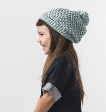 Handmade Baby and Child Pom Slouch Beanie Hat, Fairtrade - Give Back Goods