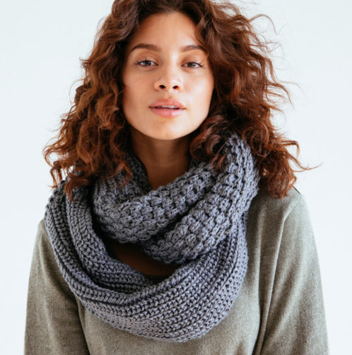 Handmade Gray Carson Scarf, Fair Trade, Sustainable - Give Back Goods