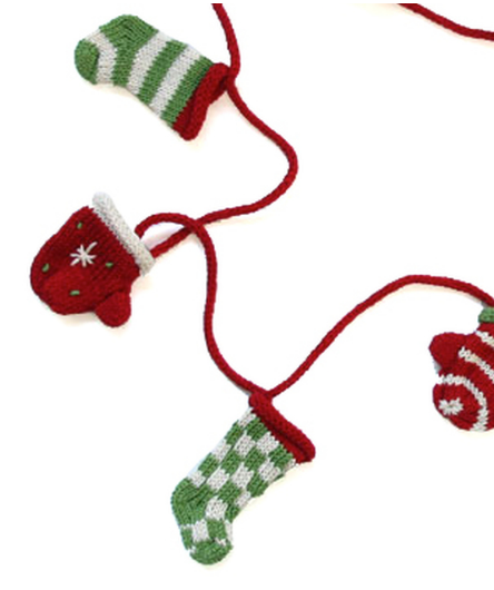 Handmade Garland With Hats & Mittens - Fair Trade - Give Back Goods
