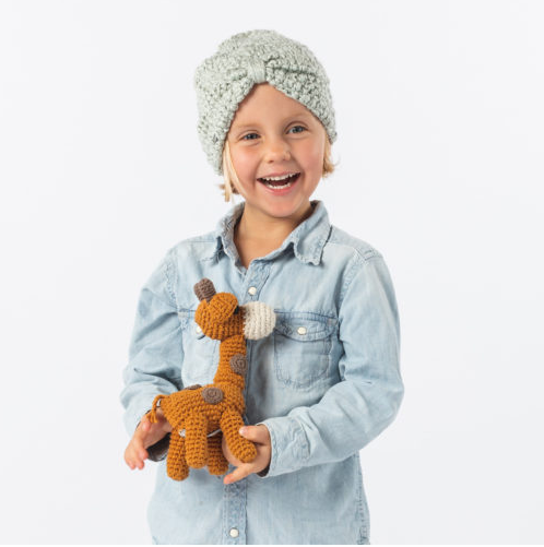 Giraffe Hand Crocheted Stuffed Animal, Fair Trade - Give Back Goods