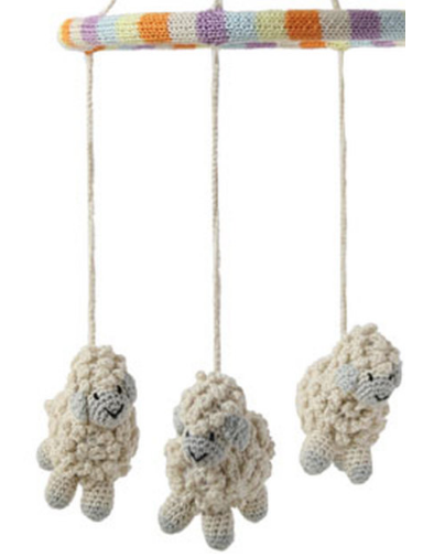 Baby Sheep Mobile, Handmade, Support Fair Trade for Artisans - Give Back Goods