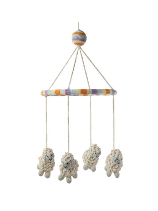 Baby Sheep Mobile, Handmade, Support Fair Trade for Artisans