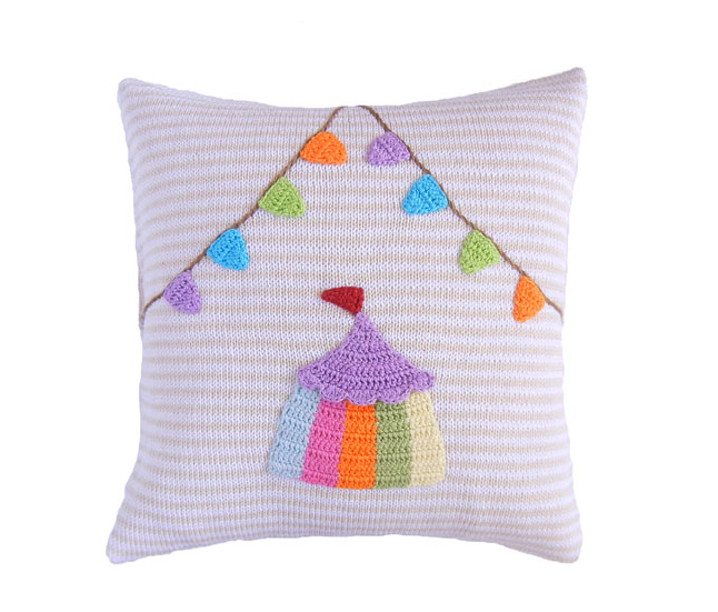 Circus Tent Pillow, Handmade, Fair Trade