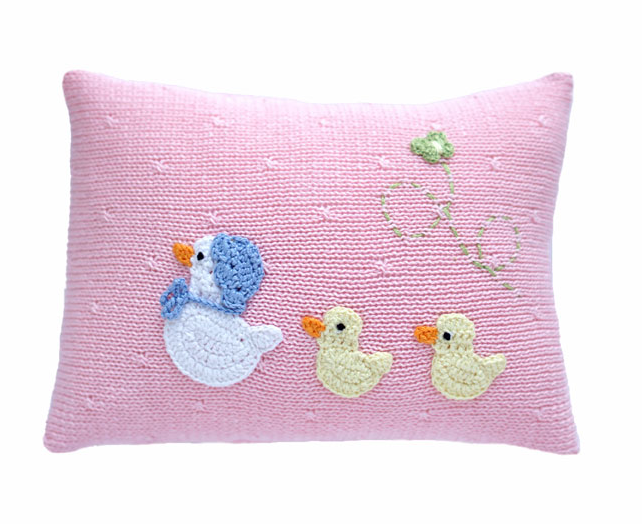 Mini Baby Duck Pillow, blue or pink, Fair Trade - Give Back Goods