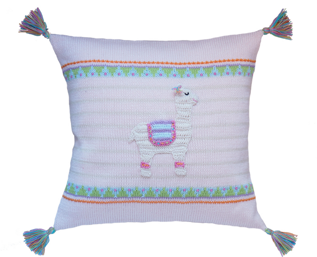 Llama Baby Pillow, Handmade, Fair Trade - Give Back Goods
