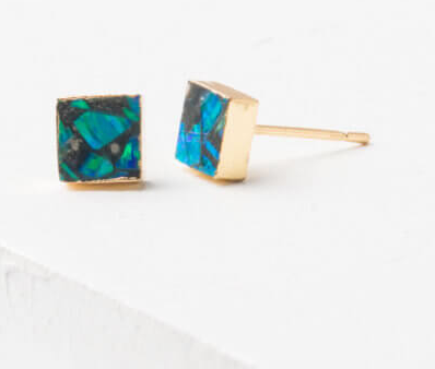 """Opal"" Stud Earrings, Give freedom & create careers for exploited girls & women! - Give Back Goods"