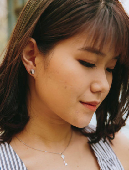 Mother of Pearl Stud Hexagon Earrings, Give freedom & create careers for exploited girls & women! - Give Back Goods
