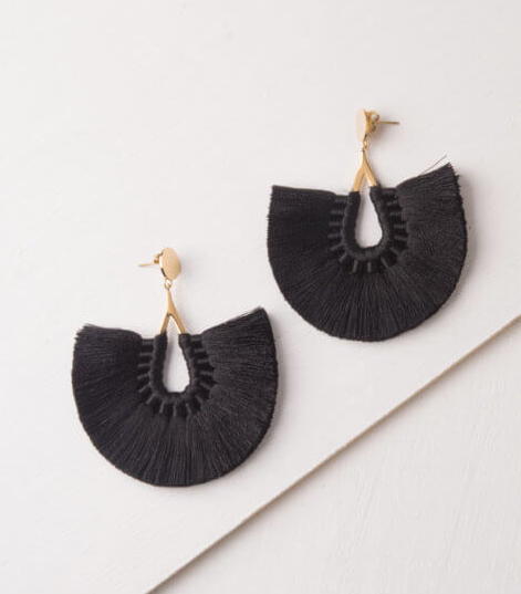 Black Large Tassel Earrings, Give freedom to exploited girls & women! - Give Back Goods
