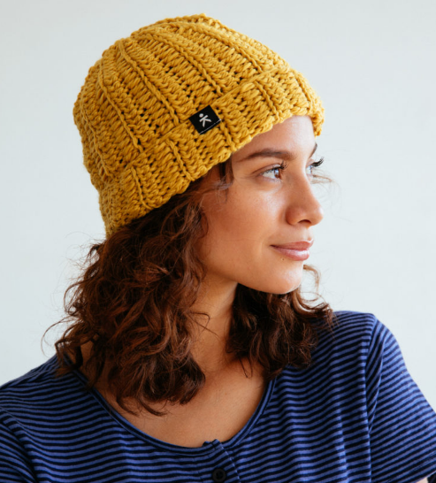 Marine Beanie Hat, Fair Trade, Help Break the Cycle of Poverty, Eco-friendly - Give Back Goods